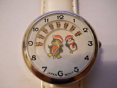 CHILLY WILLY Rare Children's Character Watch Walter Lanz Studios With Rotating P