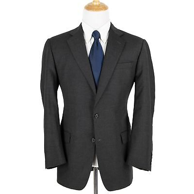 Hickey Freeman Charcoal Worsted Wool Woven Lined Pleated Front 2Btn Suit 40R