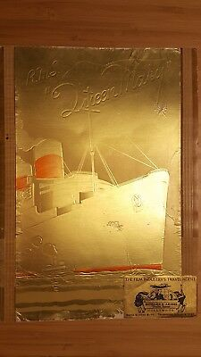 Cunard White Star RMS QUEEN MARY Color Photo Brochure 1937