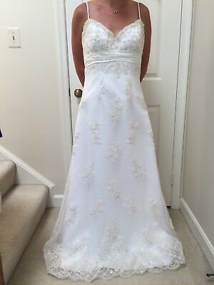 New With Tags Alfred Angelo Wedding Dress Size 10 Lace