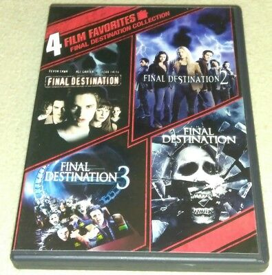 Final Destination Collection: 4 Film Favorites (DVD, 2010, Disc Set, WS) *HORROR