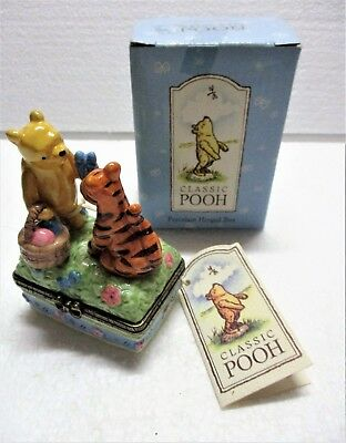Classic Pooh & Tigger Porcelain Hinged Box Disney Midwest Of Cannon Falls W/box