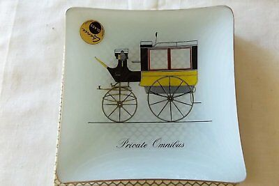 Chance Glass England Vintage Carriage Theme Pin / Trinket Dish As New In Box