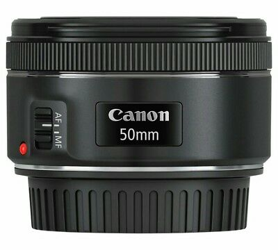 BRAND NEW Canon EF 50 mm F/1.8 EF STM for Canon Black UK DISPATCH
