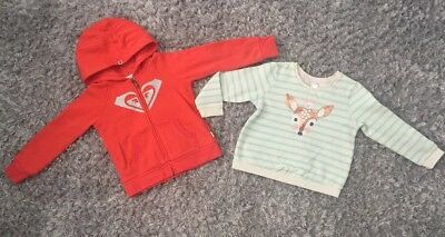 Roxy Hoodie And Target Little Girls Fleece Jumpers Size 4