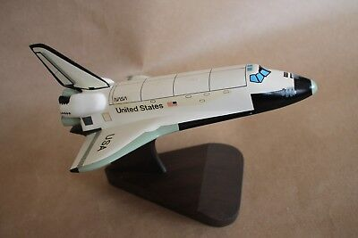 "Nasa Wooden Model Of United States Space Shuttle 10"" Long  6"" Across"