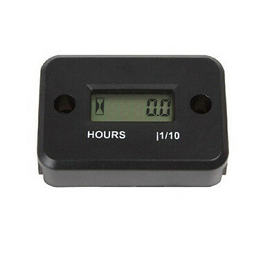 New style LCD Display Hour Meter Motorcycle ATV Scooter Marine Boat Gauge Timers