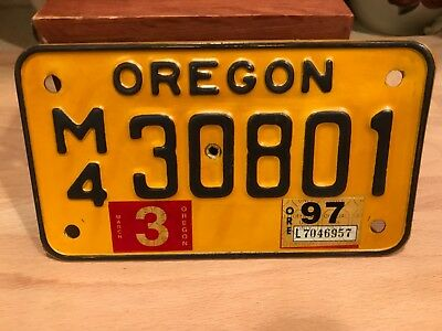 vintage OREGON  motorcycle license plate.