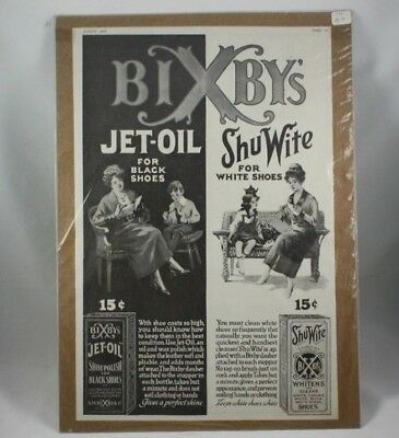 Antique Bixby's Jet-Oil and Shu Wite Advertisement August 1919 Shoe Polish 15 c