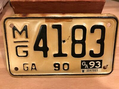 vintage  GEORGIA motorcycle license plate.