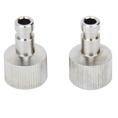"""2 Airbrush Quick Disconnect Coupler Hose Connector Release Adapter 1/8"""" Fittings"""