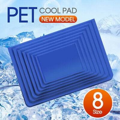 Cool Gel Mat Dog Cat Bed Non-Toxic Cooling Dog Summer Pad 7 Sizes Pet FAST POST