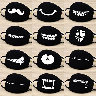 Adult Unisex Black Anti-Dust Cotton Mouth Face Mask Half Masks Outdoor Cycling