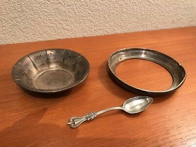 Lot of scrap silver sterling bowl and spoon