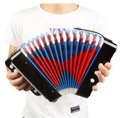 D10 Professional 7 Key Black Children Beginner Musical Instrument Accordion O