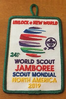 2019 24th WORLD JAMBOREE PATCH IOFFICIAL PROMOTIONAL Green Border