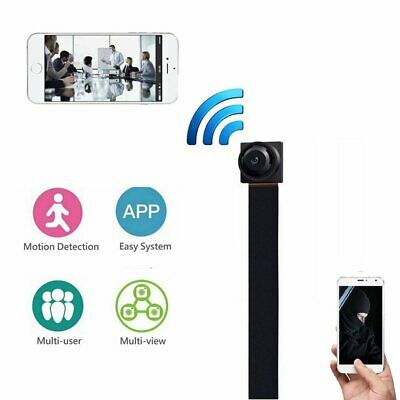 Black Wireless Hidden Cam WIFI IP Pinhole Video Camera Mini Micro DVR (No P2P)