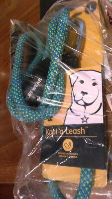 Ruffwear Knot-a-Leash Reflective Dog Leash with Carabiner, Blue Spring, Large