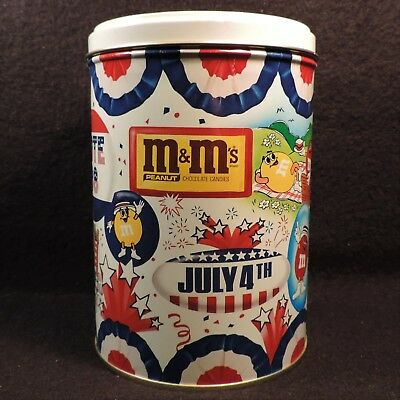 Vintage M&M's Peanuts 4th of July Collectible Metal Tin Retro USA Vote America