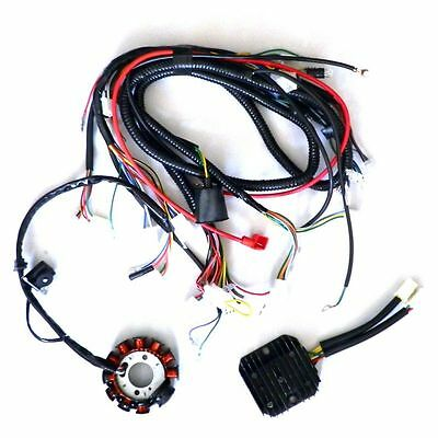 11 Pole DC Magneto Stator Regulator Wiring Harness GY6 150 Scooter Performance