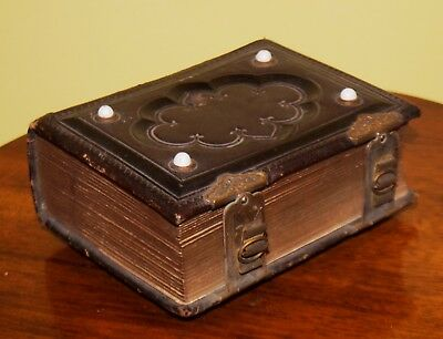 Fine Antique 1860's Leather Bound Photo Album with 49 Cabinet Cards & Tintypes