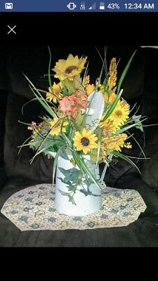 sunflower antique watering can decor