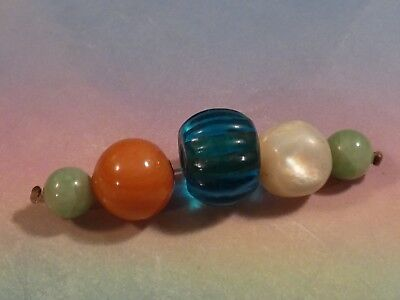 Antique Chinese Green Hued Jade Beads,red Glass Coral,blue Peking Glass Beads