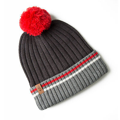 Gill Offshore Knit Beanie - Graphite / Rouge