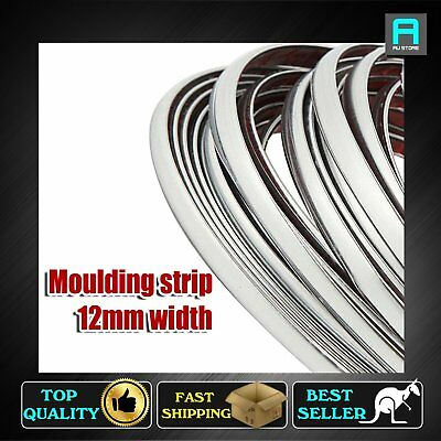 Moulding Trim Chrome Styling Strip For Car Van Grille Bumper Roof 12mm Wide x 8M