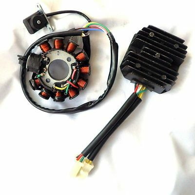 11 Pole  Performance Magneto Stator Regulator GY6 125 150 Motorrad Roller