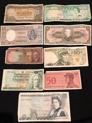 MIXED REGIONS - 9x Bank Notes from various countries and in varying condition