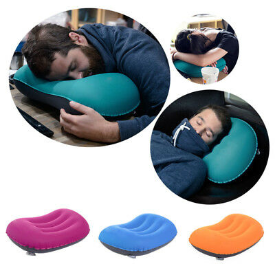 Inflatable Camping Sleeping Pillow Portable Outdoor Travel Beach Air Cushion