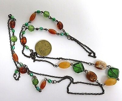 Beaded Chain Necklace  - length of Beaded Chain - One metre length - as pictured