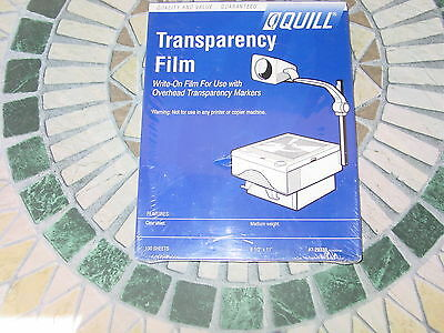 "Quill Transparency Film, New, Factory Sealed, 100 Sheets, 8.5"" x 11"""