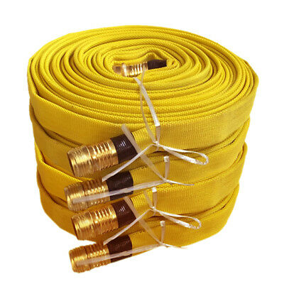 Pack of 4 FIRE HOSE, 3/4IN.X 50 FT., YELLOW, 250 PSI