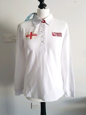 Official England 2015 Rugby World Cup Women Long Sleeve Shirt Jersey UK 14 New