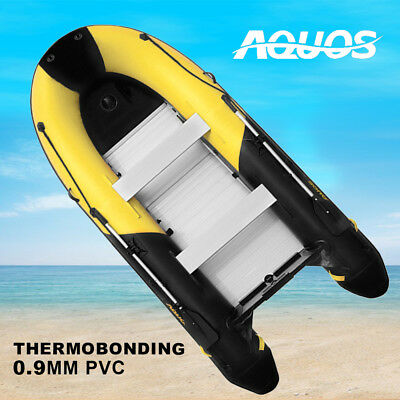 AQUOS NEW Yellow&Black 0.9mm PVC 3m Inflatable Fishing Boat Tender Dinghy Raft