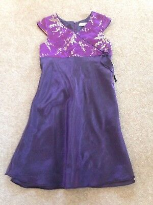 GIRLS GORGEOUS PARTY Special Occasion DRESS Purple 10-11 YEARS VGC