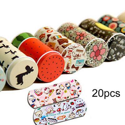 20x adult variety decor patterns bandages cute cartoon band aid kids in a boxCS
