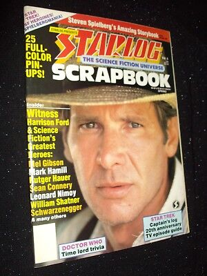 Starlog Scrapbook Mag:vol.5:1986:steven Spielberg/heroes&women Of Sf/star Trek!
