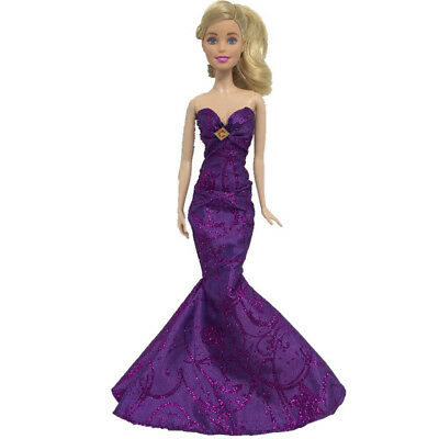Purple Royalty Mermaid Dress Party Dress/Wedding Clothes/Gown For Doll