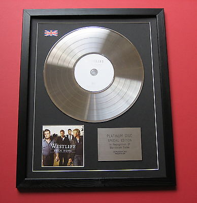 WESTLIFE Back Home CD / PLATINUM LP DISC Presentation