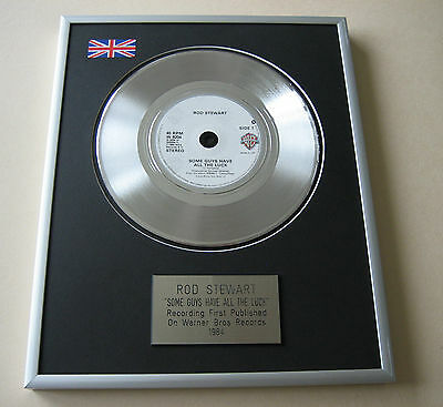 ROD STEWART Some Guys Have All The Luck PLATINUM SINGLE DISC PRESENTATION