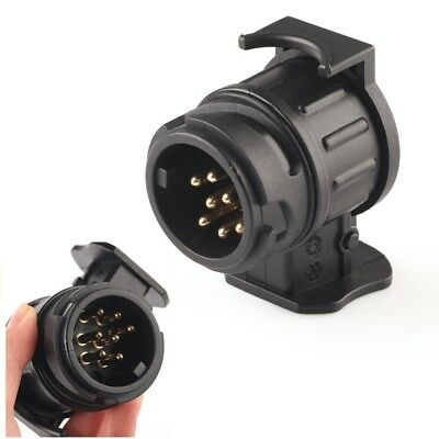 Car Trailer Truck 13 Pin to 7 Pin Plug Adapter Converter Tow Bar Socket