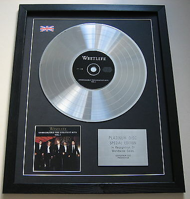 WESTLIFE Unbreakable -The Greatest Hits Vol 1 CD / PLATINUM LP DISC Presentation