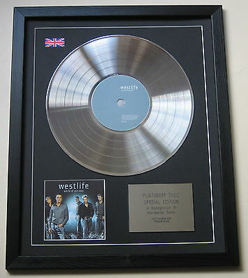 WESTLIFE World Of Our Own CD / PLATINUM LP DISC Presentation