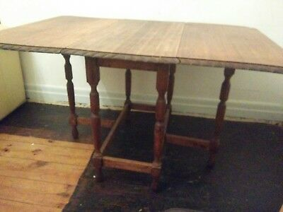 Pie Crusted Gate Leg Table Antique