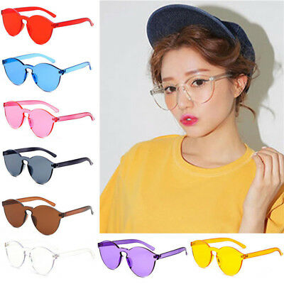1Pc Fashion Women Sunglasses Cat Eye Shades Luxury Designer Eyewear Candy Color