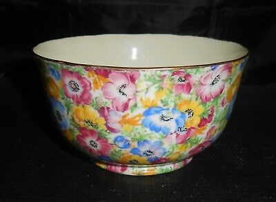 Radfords Vintage Bone China Chintz Anemones Sugar Bowl                        At