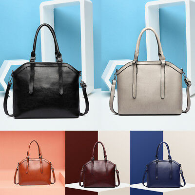 Women Designer Handbag Soft PU Leather Tote Shoulder Bag